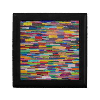 Color Bars Art Small Square Gift Box