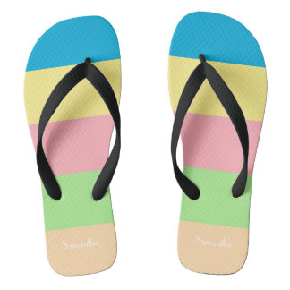 Color Bars Thongs