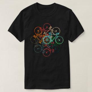 color bicycles . cycling / biking black T-Shirt