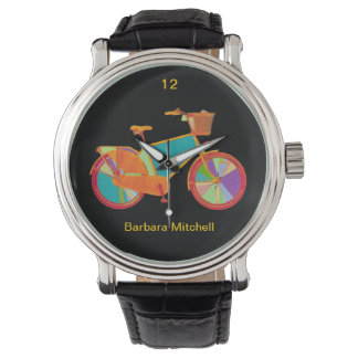 color bike timepiece watch