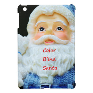 Color Blind Santa With Cute Baby Polar Bear iPad Mini Cover