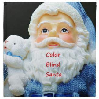 Color Blind Santa With Cute Baby Polar Bear Napkin