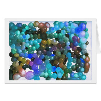 Color Blobs Blue Variation Greeting Card