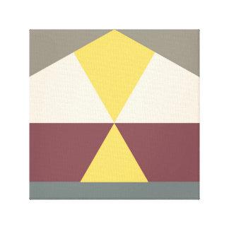 color block 007 stretched canvas print