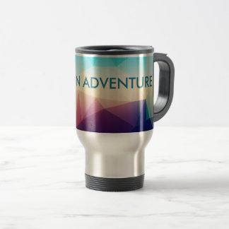 Color Block Abstract Life Adventure Travel Mug