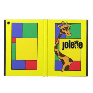 Color Block Cartoon Giraffe - iPad Air Case
