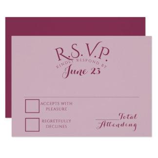 Color Block Cranberry Blend Response Card 9 Cm X 13 Cm Invitation Card