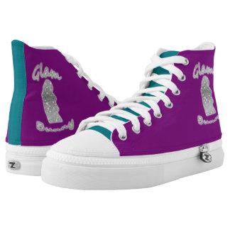 Color Block Glambunny Hightop Printed Shoes