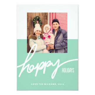 Color Block Holiday Photo Card 13 Cm X 18 Cm Invitation Card