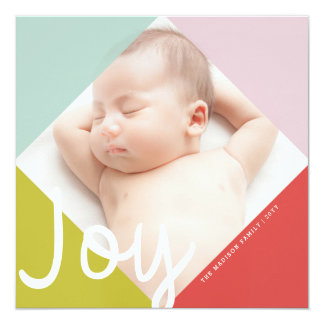 Color Block Joy Holiday Card 13 Cm X 13 Cm Square Invitation Card