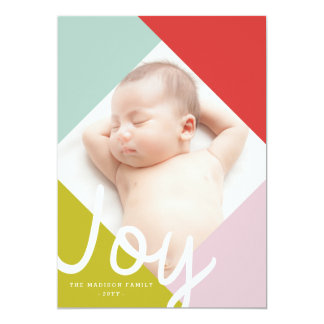 Color Block Joy Holiday Card 13 Cm X 18 Cm Invitation Card