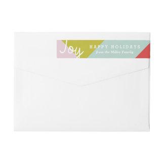 Color Block Joy Wrap Around Label