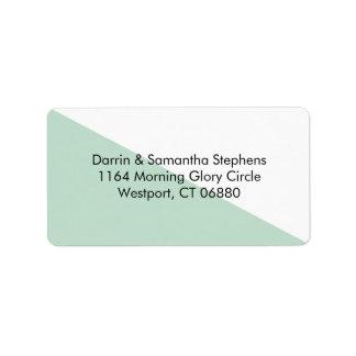 Color Block - Mint Personalized Address Labels