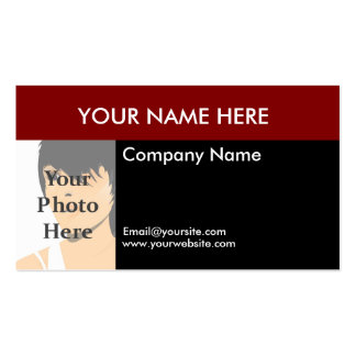 Color Block Photo Business Card