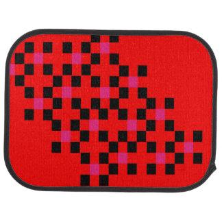 Color Block Square Pattern Bold Modern Stylish Floor Mat