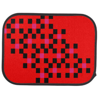 Color Block Square Pattern Bold Modern Stylish Floor Mat