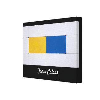Color Block Team Colors on Canvas