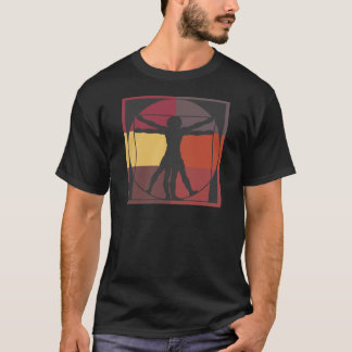 Color Block Vitruvian Man T-Shirt