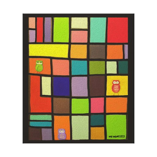 Color Block Wall Hanging by idyl-wyld Canvas Prints