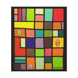 Color Block Wall Hanging by idyl-wyld Stretched Canvas Print