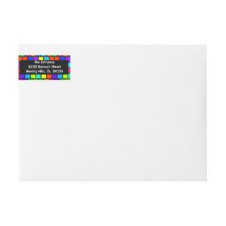 Color Blocking Rainbow Colors Wraparound Return Address Label