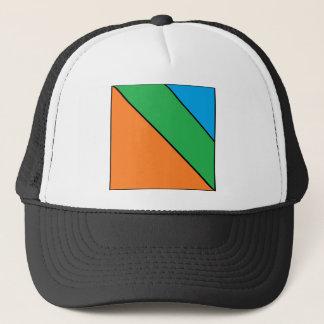 color blocking your summer trucker hat