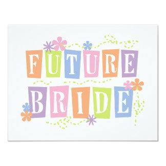 Color Blocks Future Bride Tshirts and Gifts Invite
