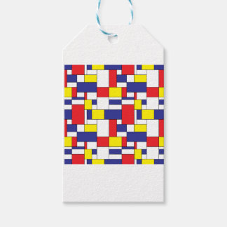 color blocks gift tags