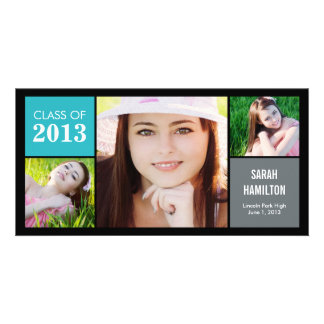 Color Blocks Graduation Announcement Photo Card