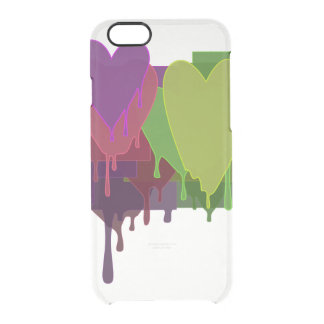 Color Blocks Melting Hearts Clear iPhone 6/6S Case