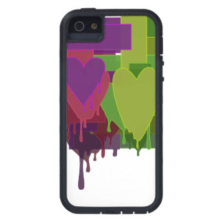 Color Blocks Melting Hearts Cover For iPhone 5