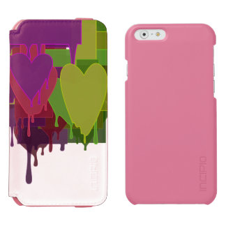 Color Blocks Melting Hearts Incipio Watson™ iPhone 6 Wallet Case