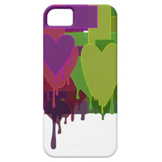 Color Blocks Melting Hearts iPhone 5 Cover