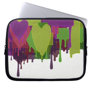 Color Blocks Melting Hearts Laptop Sleeve