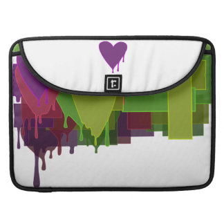 Color Blocks Melting Hearts Sleeve For MacBooks