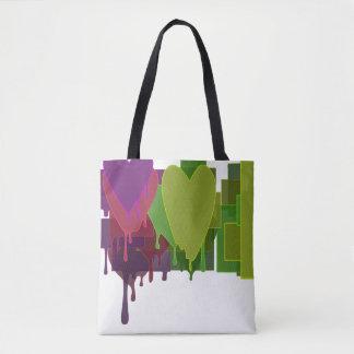 Color Blocks Melting Hearts Tote Bag