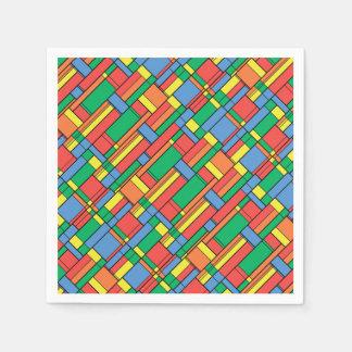 Color blocks paper napkin