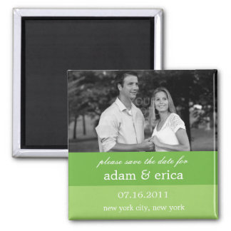 Color Blocks Save The Date Magnet (Lime Green)
