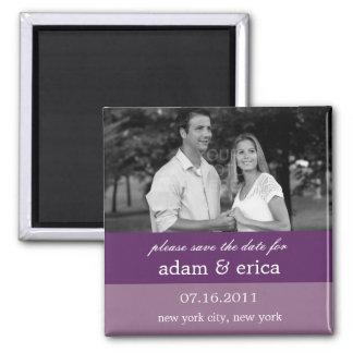 Color Blocks Save The Date Magnet (Purple)