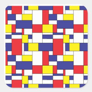 color blocks square sticker