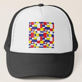 color blocks trucker hat