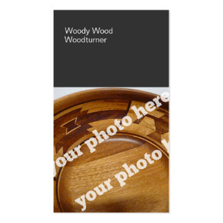 Color Blocks Woodturning Custom Photo BusinessCard Business Card Templates