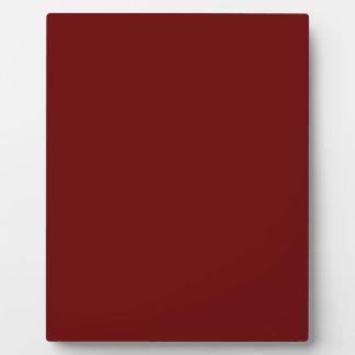 color blood red plaque