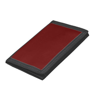 color blood red tri-fold wallets