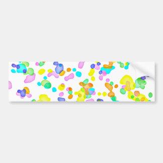 Color Blots Bumper Sticker
