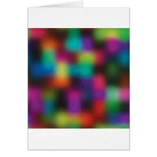 Color blur greeting card