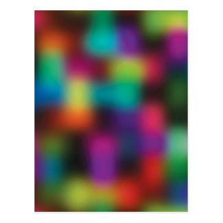 Color blur postcard