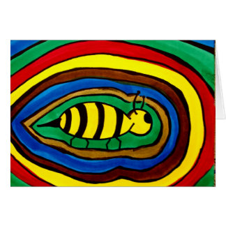 color boom bee card