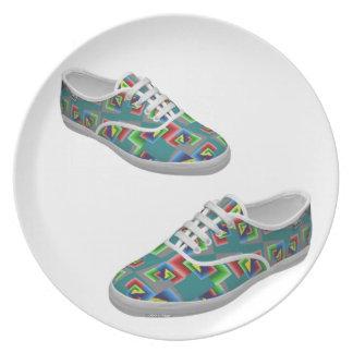 Color Box Shoes Party Plates