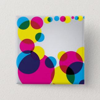 Color Bubbles 15 Cm Square Badge